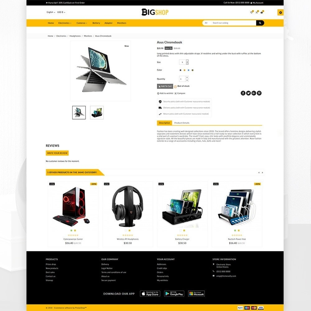 theme - Elettronica & High Tech - BigShop – Electronic Mega Super Store - 4