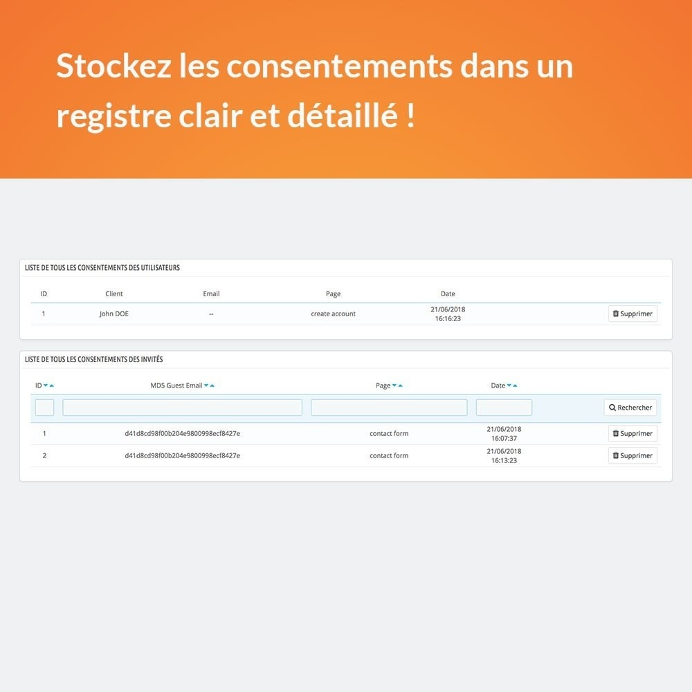 module - Législation - RGPD - Consentement utilisateur - 4