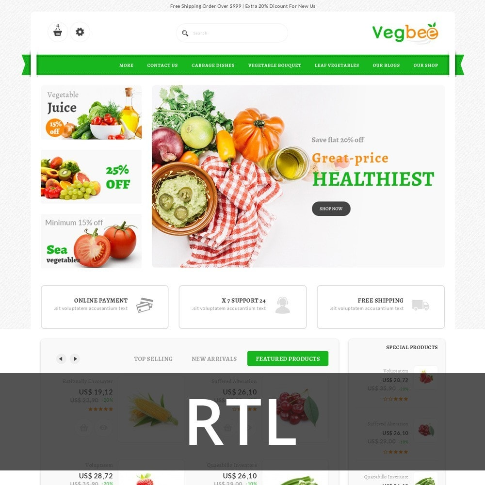 theme - Alimentation & Restauration - Vegbee - The Grocery Store - 3