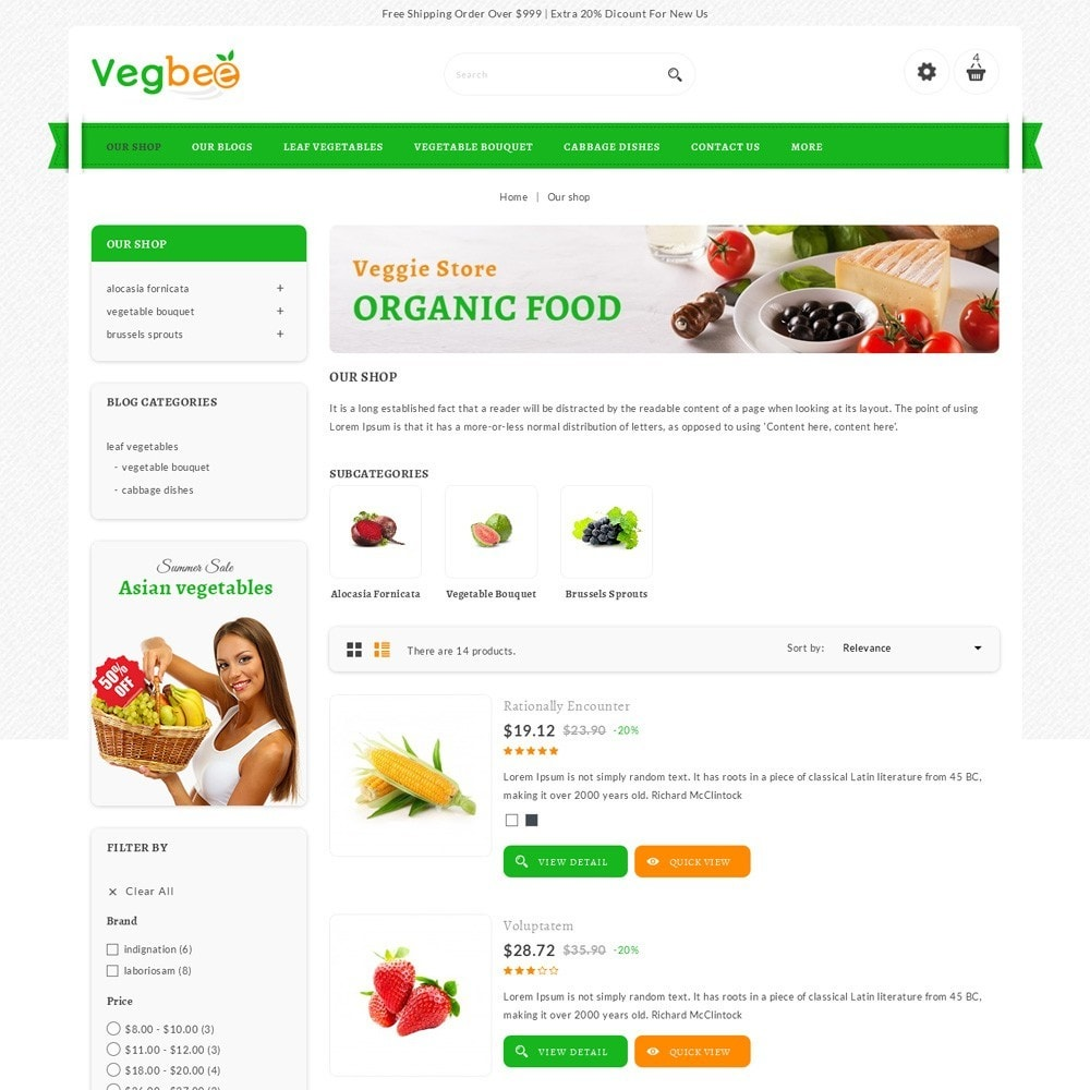 theme - Alimentation & Restauration - Vegbee - The Grocery Store - 5