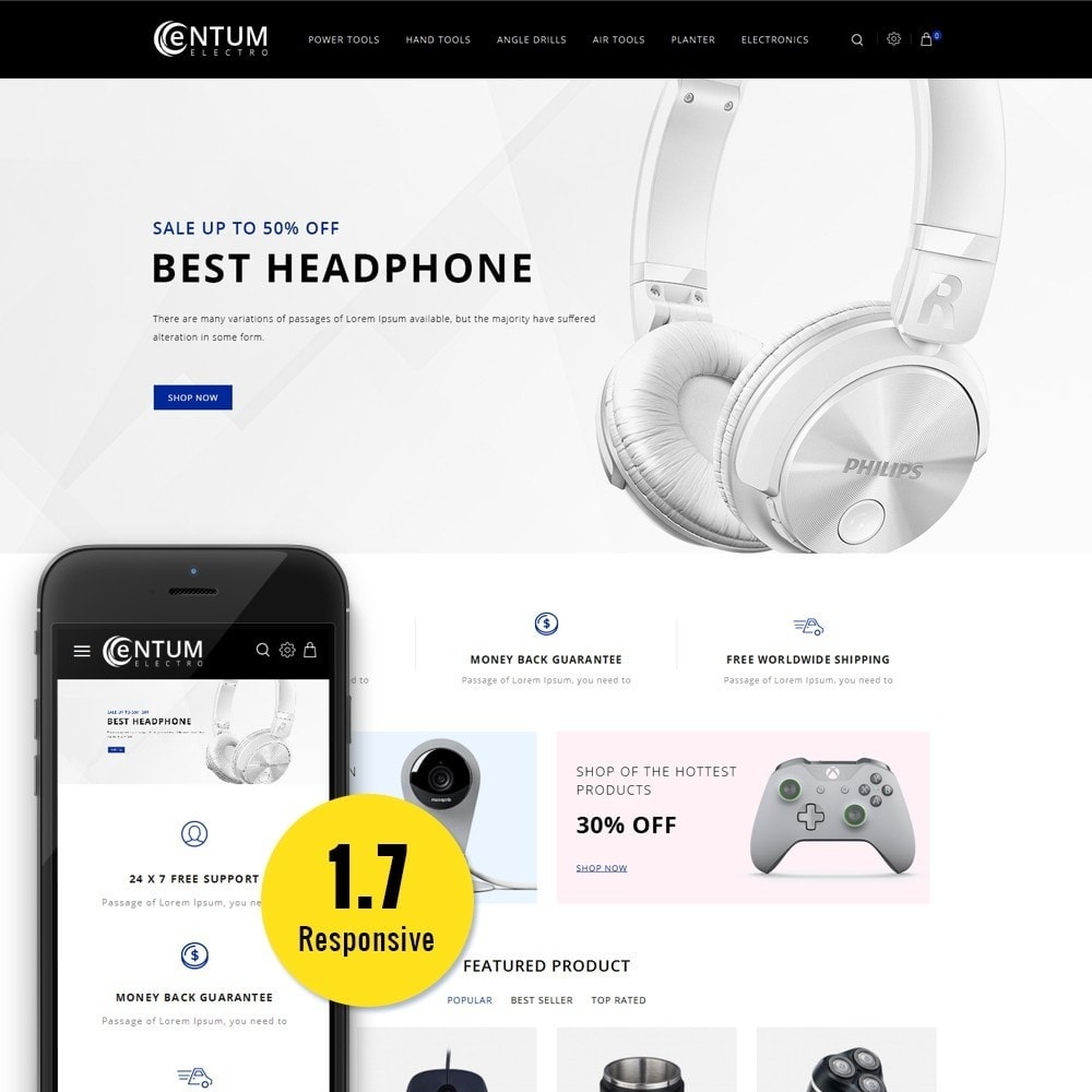 theme - Electronique & High Tech - Entum Electro Store - 1