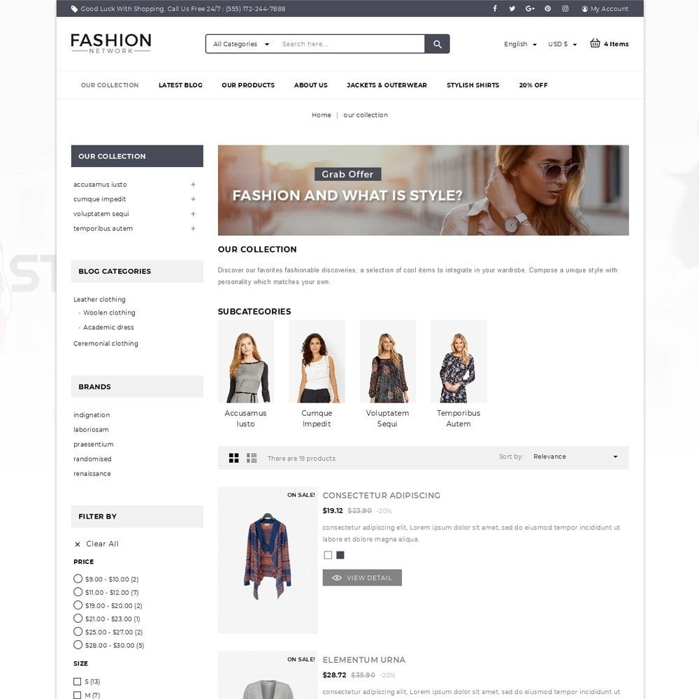 theme - Мода и обувь - Fashion Network - The Fashion Shop - 4