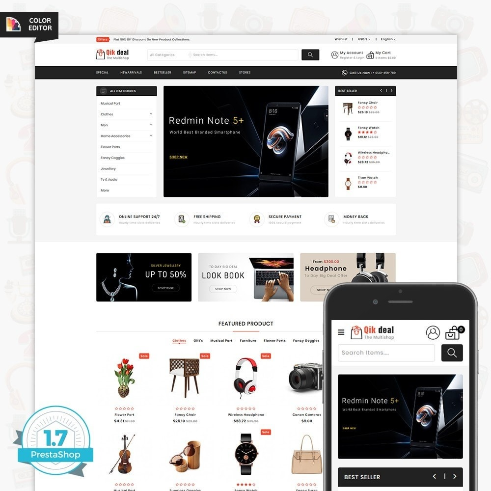theme - Electronics & Computers - Qik deal - The Mega Ecommerce Store - 1