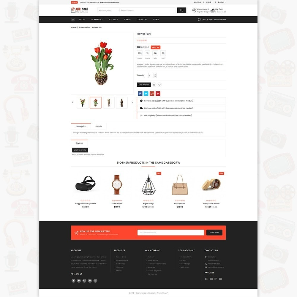 theme - Elektronik & High Tech - Qik deal - The Mega Ecommerce Store - 5