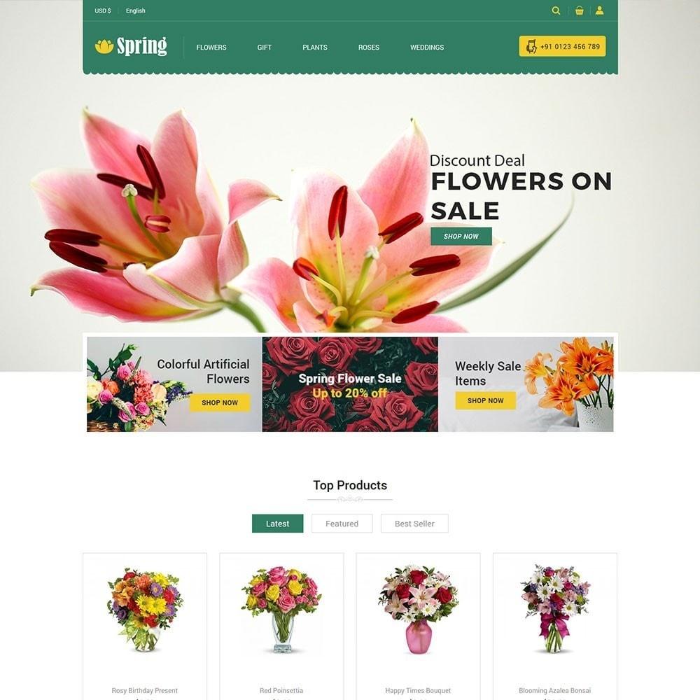 theme - Cibo & Ristorazione - Spring Flower Store - 2