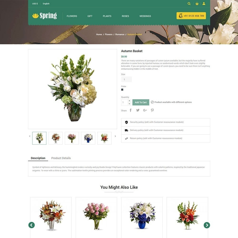 theme - Cibo & Ristorazione - Spring Flower Store - 5