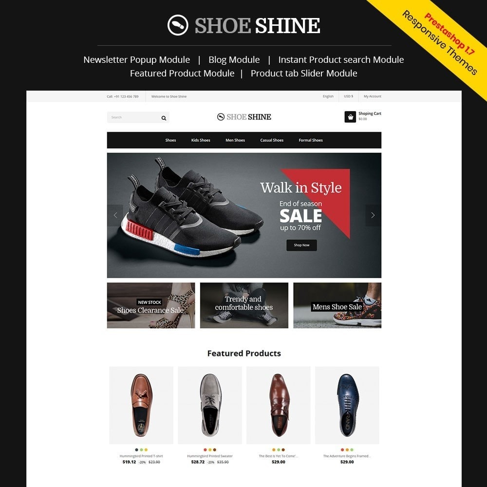 theme - Mode & Schoenen - Shoe Shine Fasion Store - 1