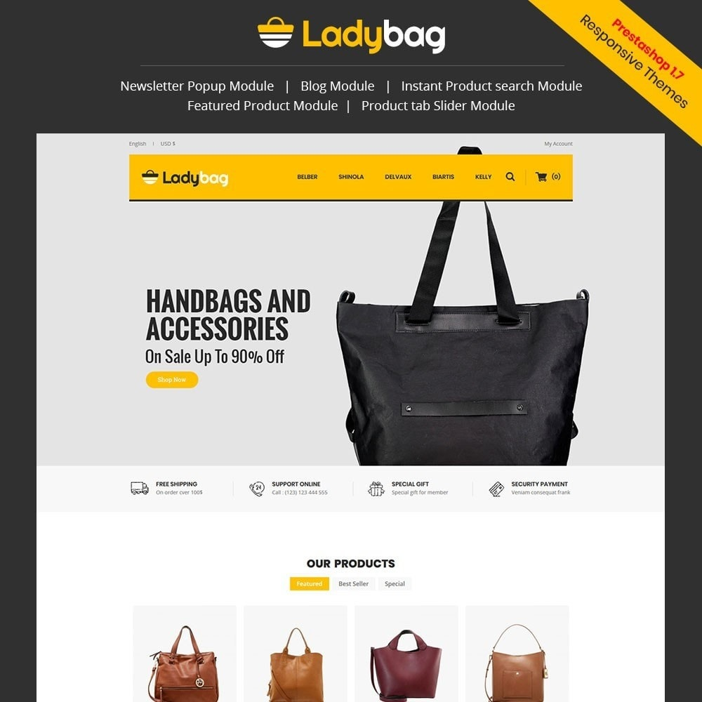theme - Мода и обувь - Ladybag Bag Store - 1