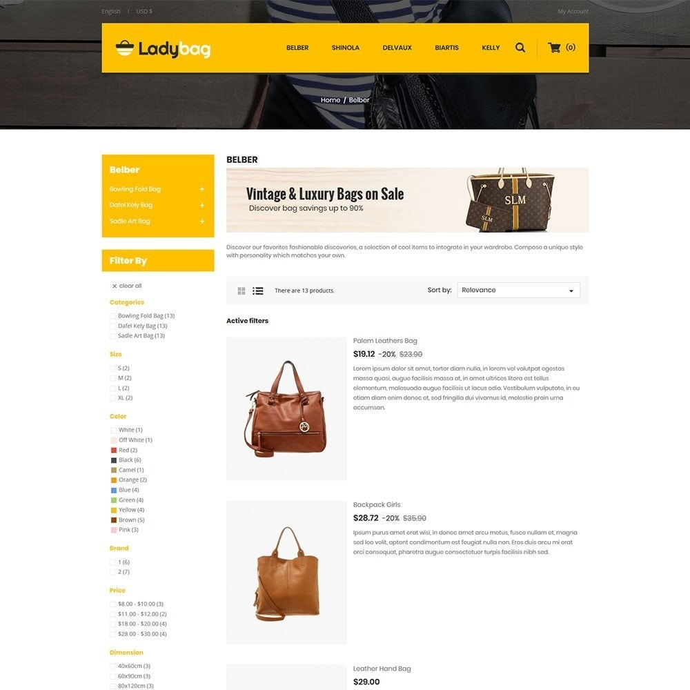 theme - Мода и обувь - Ladybag Bag Store - 4