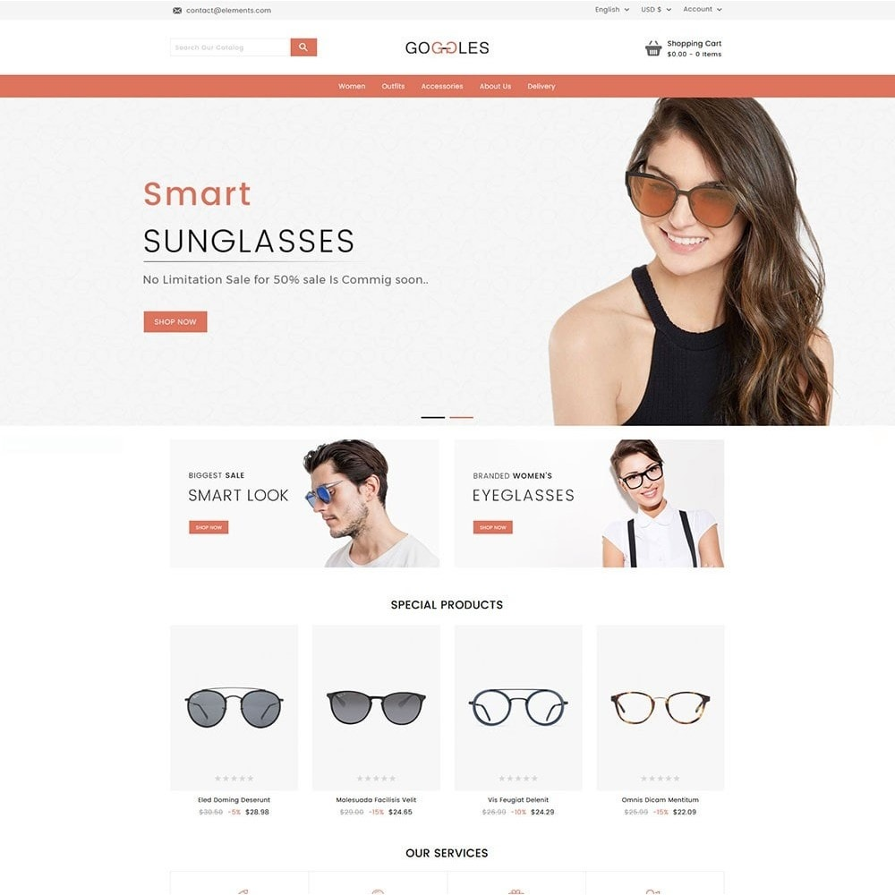 theme - Mode & Schoenen - Goggles Online Store - 2