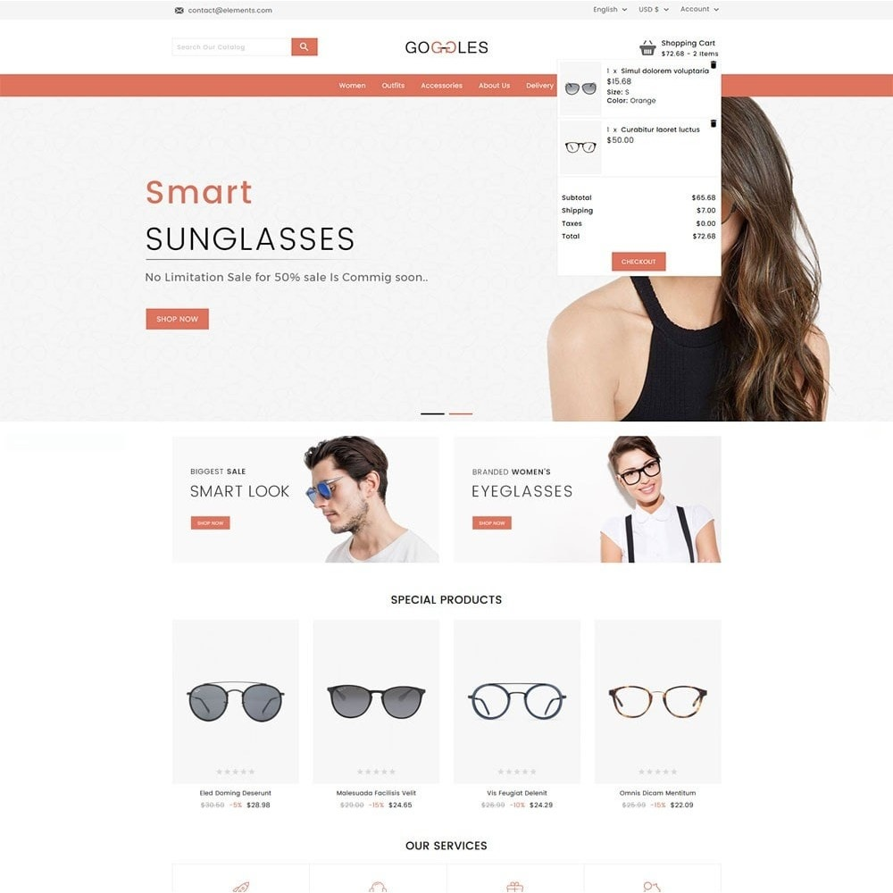 theme - Mode & Schoenen - Goggles Online Store - 3