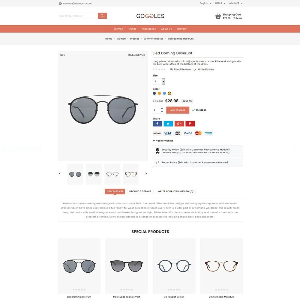 theme - Mode & Schoenen - Goggles Online Store - 4