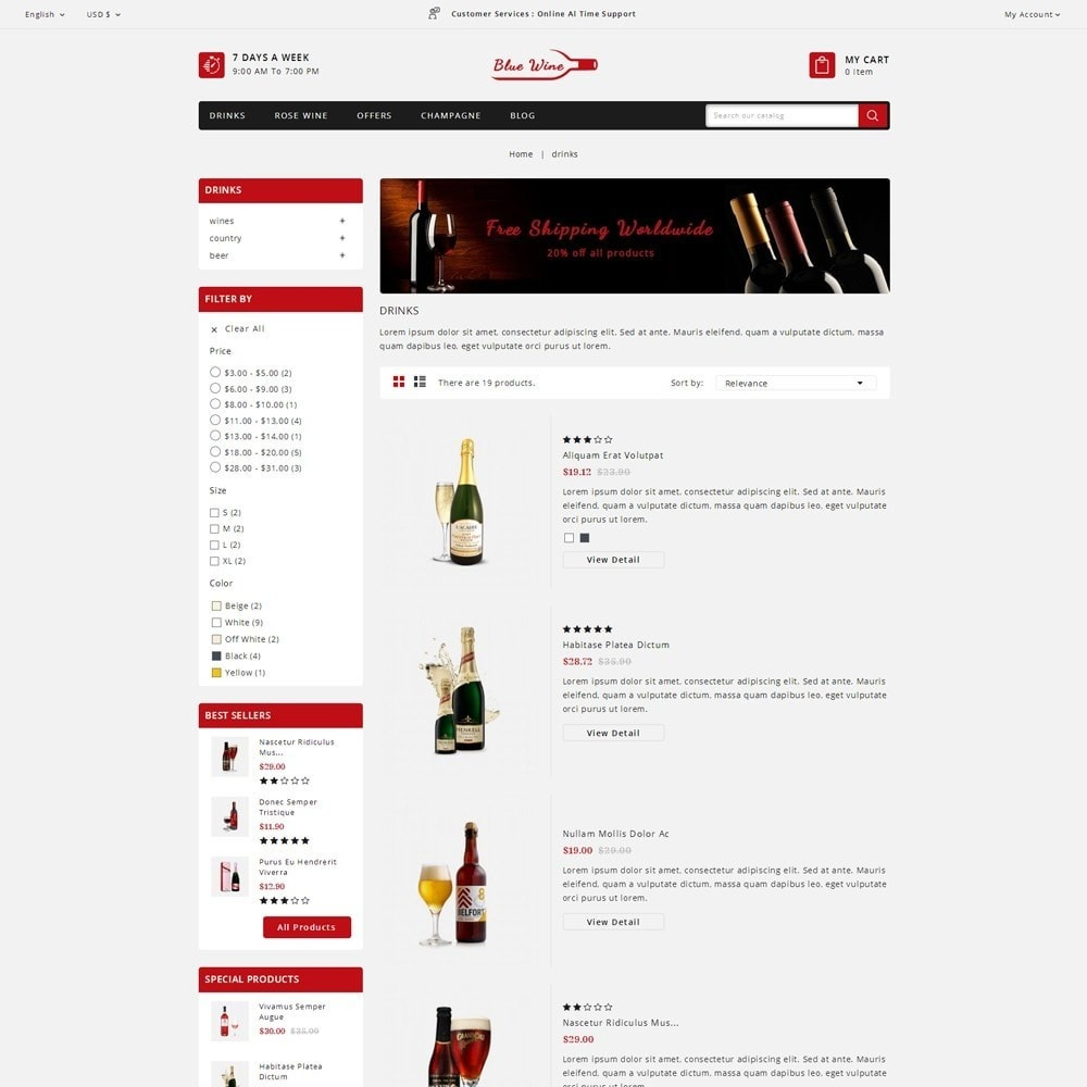 theme - Boissons & Tabac - Blue Wine Store - 4