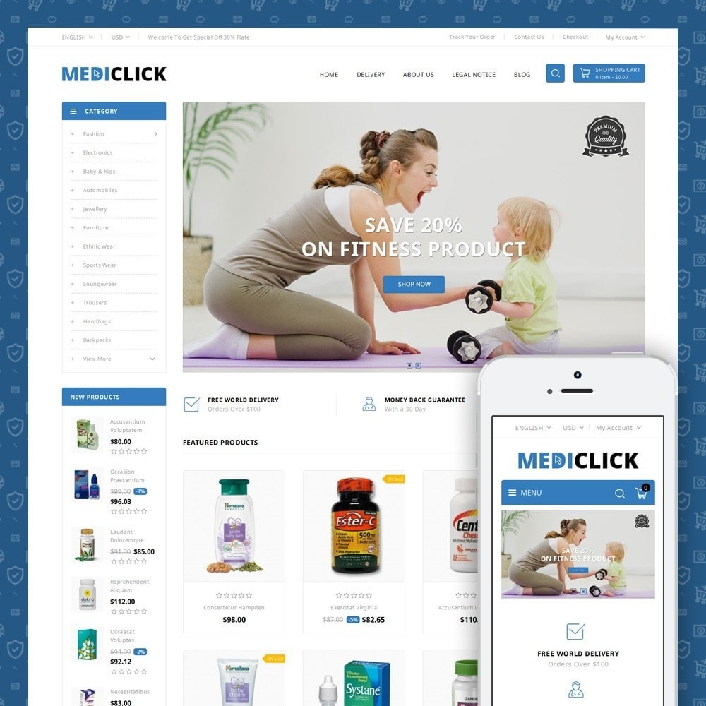 theme - Health & Beauty - MediClick - Drugs Store - 1