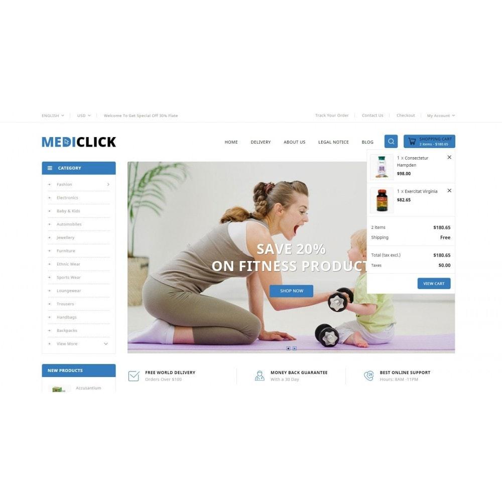 theme - Здоровье и красота - MediClick - Drugs Store - 8