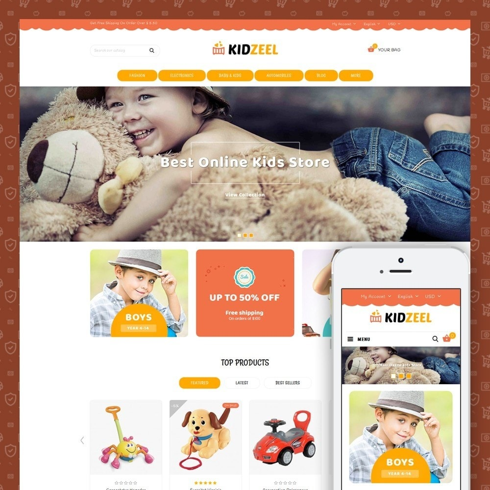 theme - Crianças & Brinquedos - KidZeel - Toys Store - 1