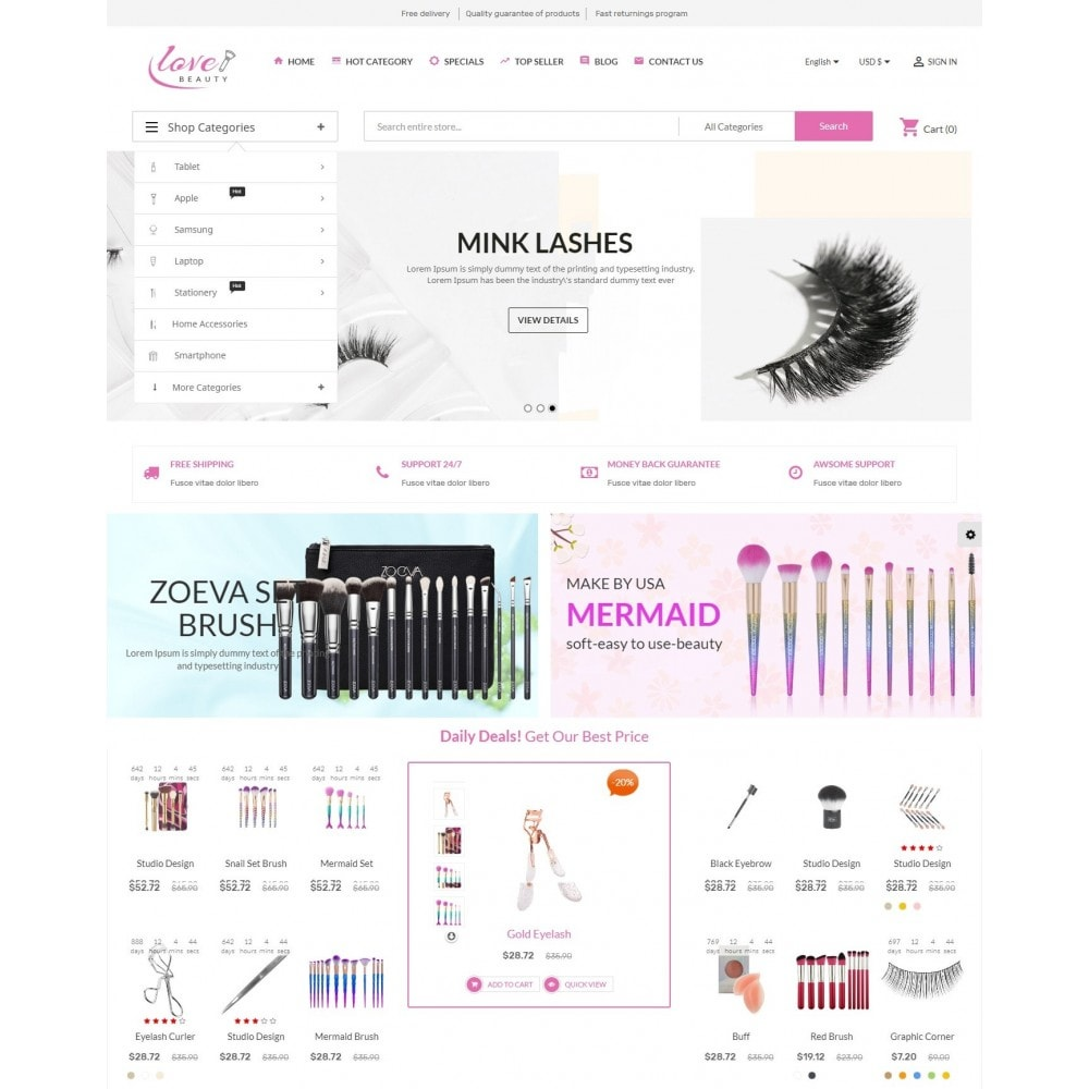 theme - Gezondheid & Schoonheid - Beauty Love Maquillage - 2