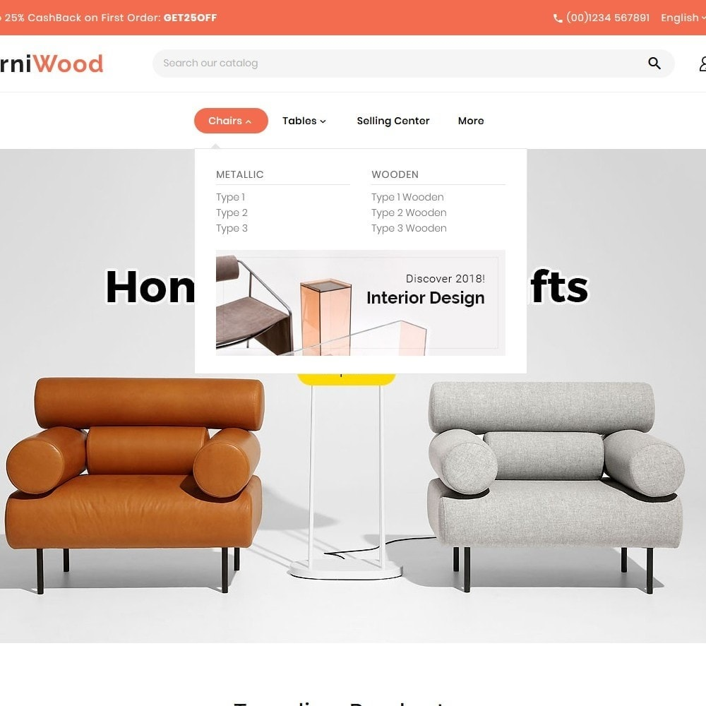 theme - Casa & Jardins - FurniWood - Sofa & Chairs - 8
