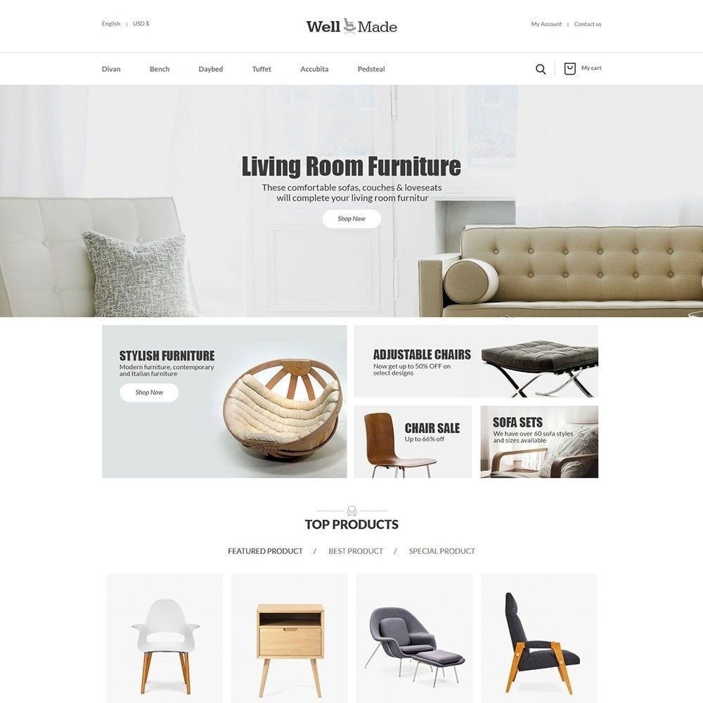 theme - Mode & Chaussures - Wellmade Light Furniture Store - 2