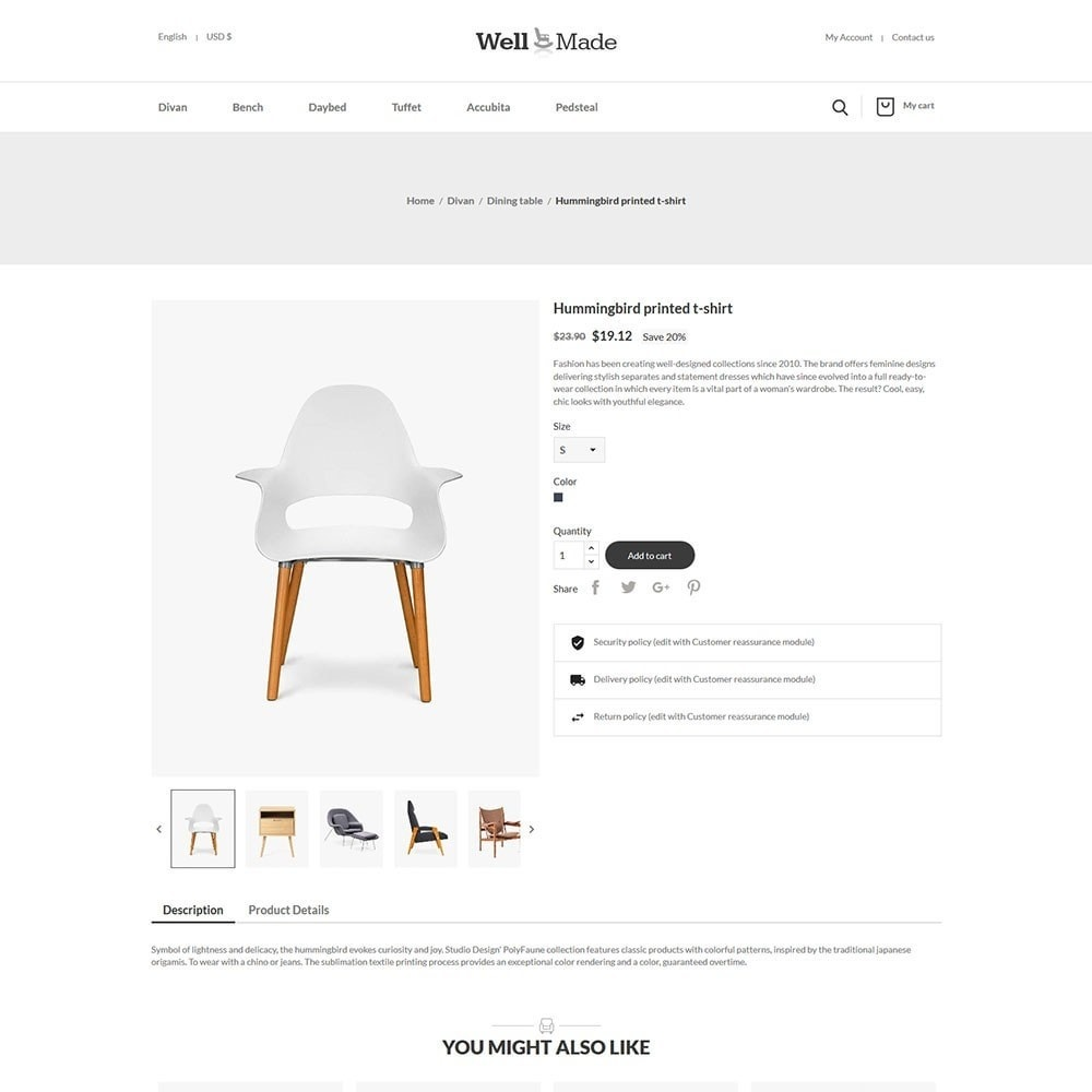 theme - Mode & Chaussures - Wellmade Light Furniture Store - 5