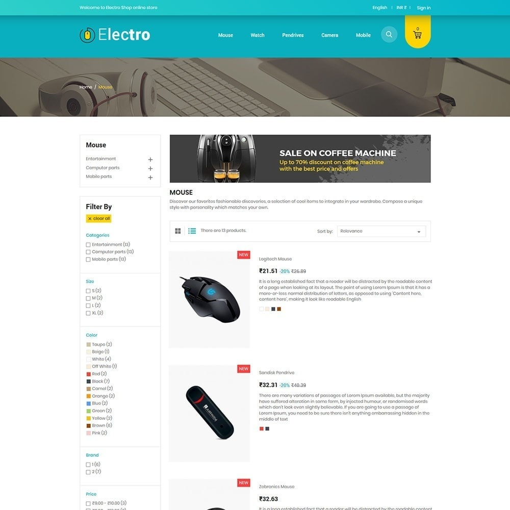 theme - Electronique & High Tech - Electro Elctronics Stores - 4