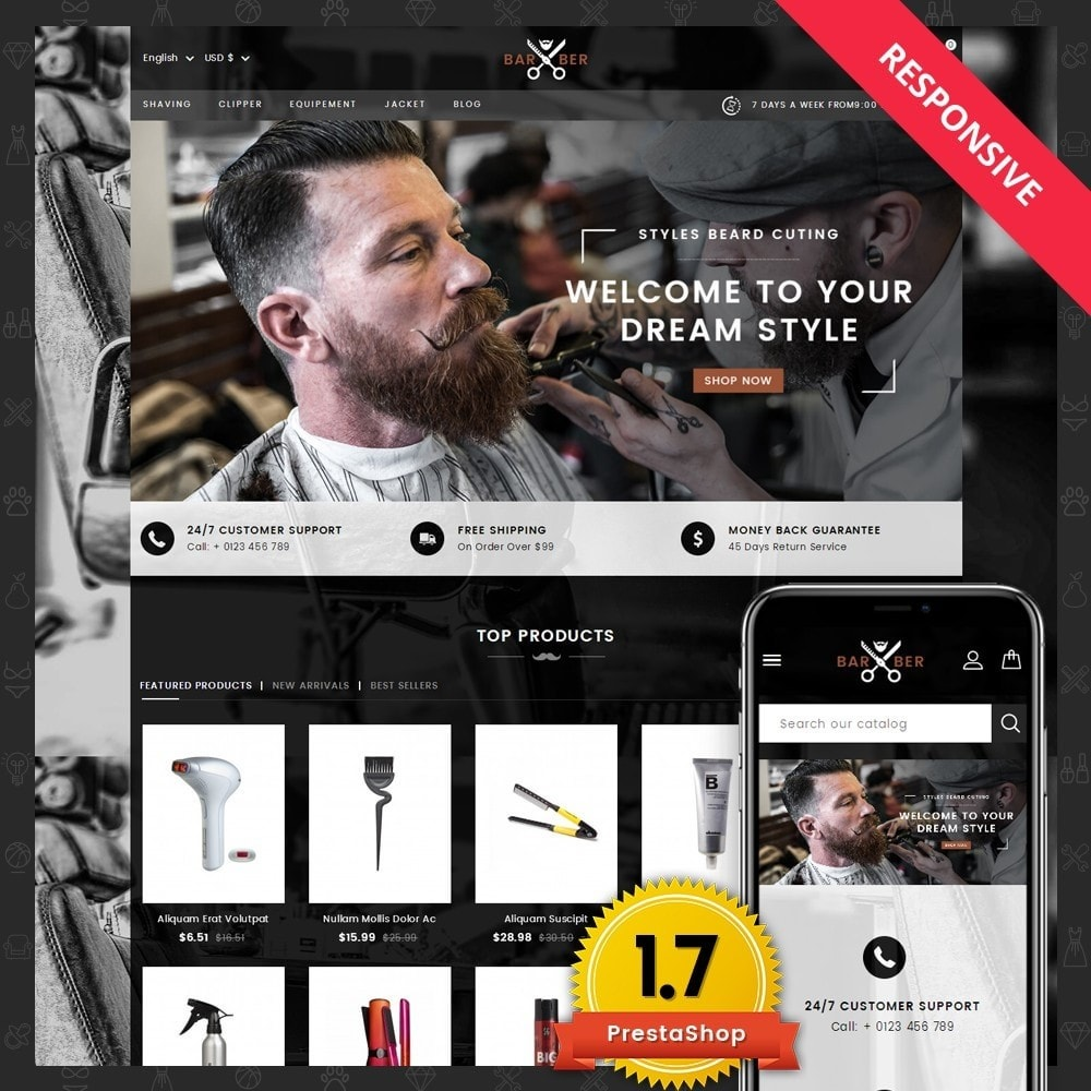 theme - Health & Beauty - Barber Store - 1