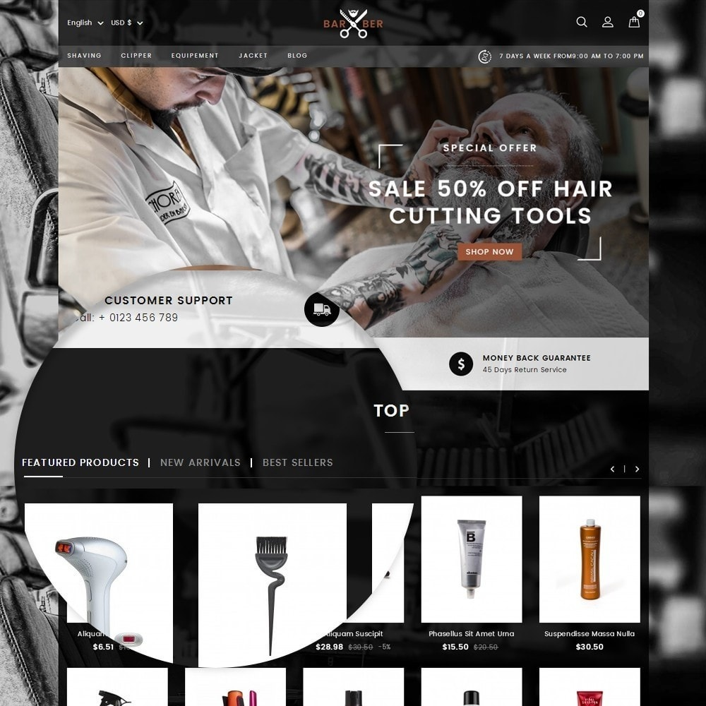theme - Health & Beauty - Barber Store - 9