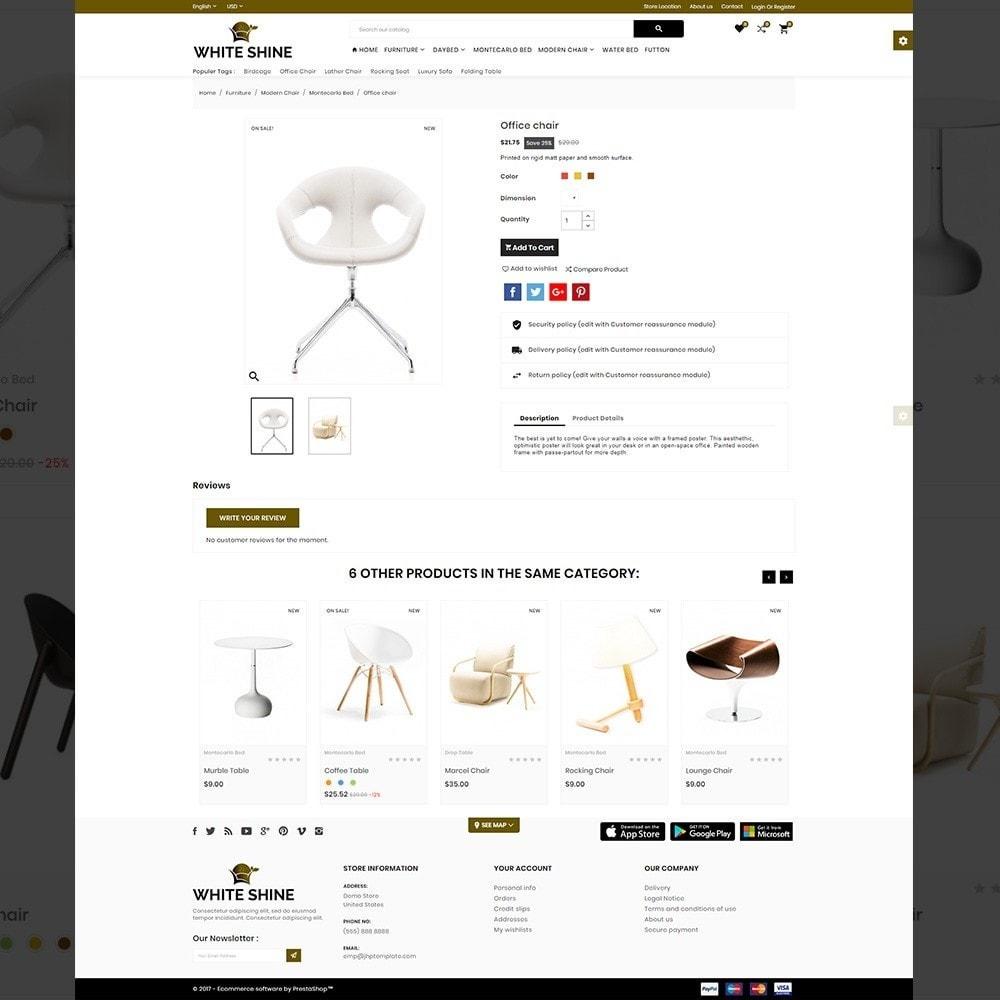 theme - Moda & Calçados - White Shine – Wood Furniture Mega Shop - 4
