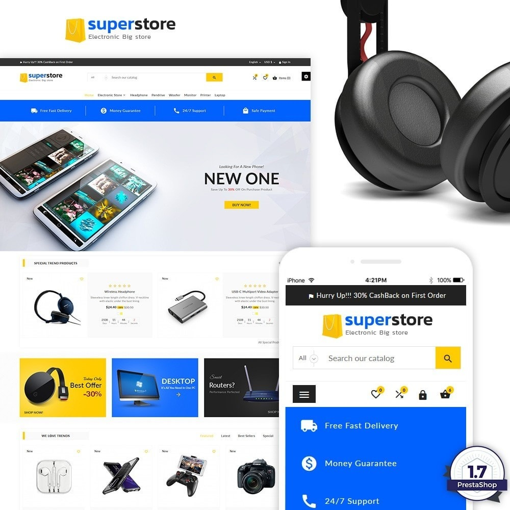 theme - Eletrônicos & High Tech - Super Store – Big Multi Store - 1
