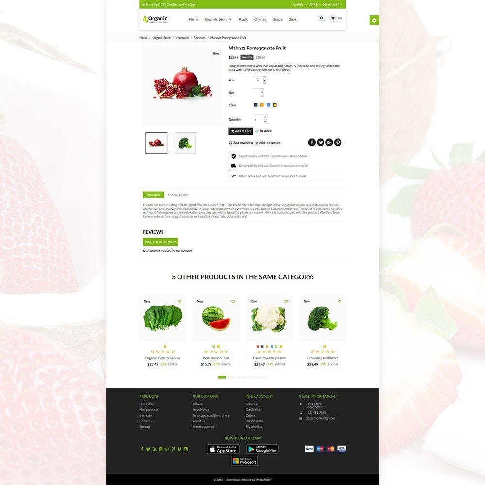theme - Food & Restaurant - Organic Fresh–Food Grocery–Market Store - 5