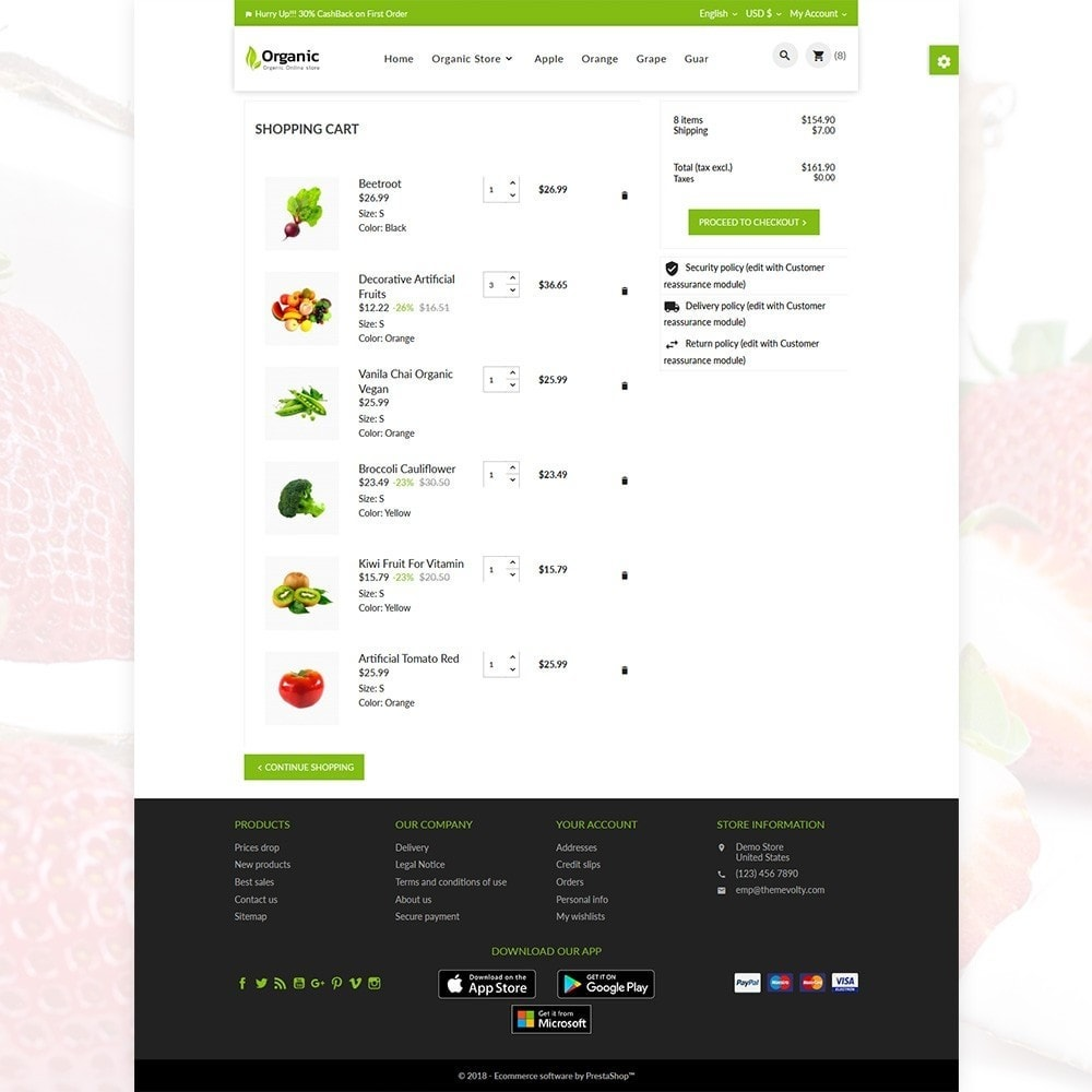 theme - Alimentos & Restaurantes - Organic Fresh–Food Grocery–Market Store - 6