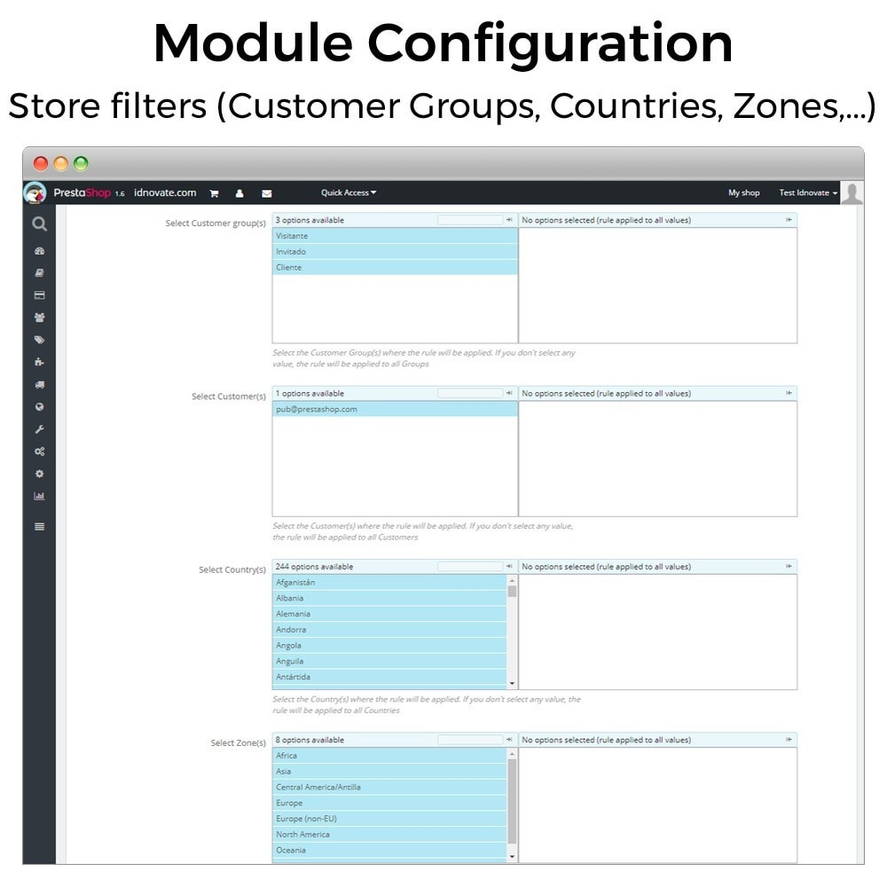 module - Inscripción y Proceso del pedido - Mínimos, máximos, múltiples y límites de importe - 6