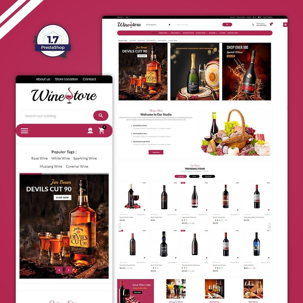 theme - Drink & Tobacco - The Wine Store – France Wine Shop - 1