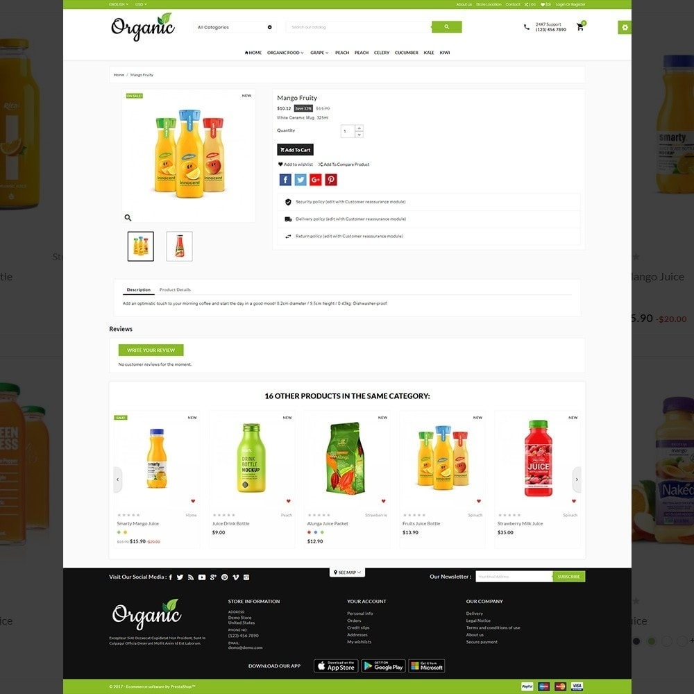 theme - Food & Restaurant - The Organic Store - 4