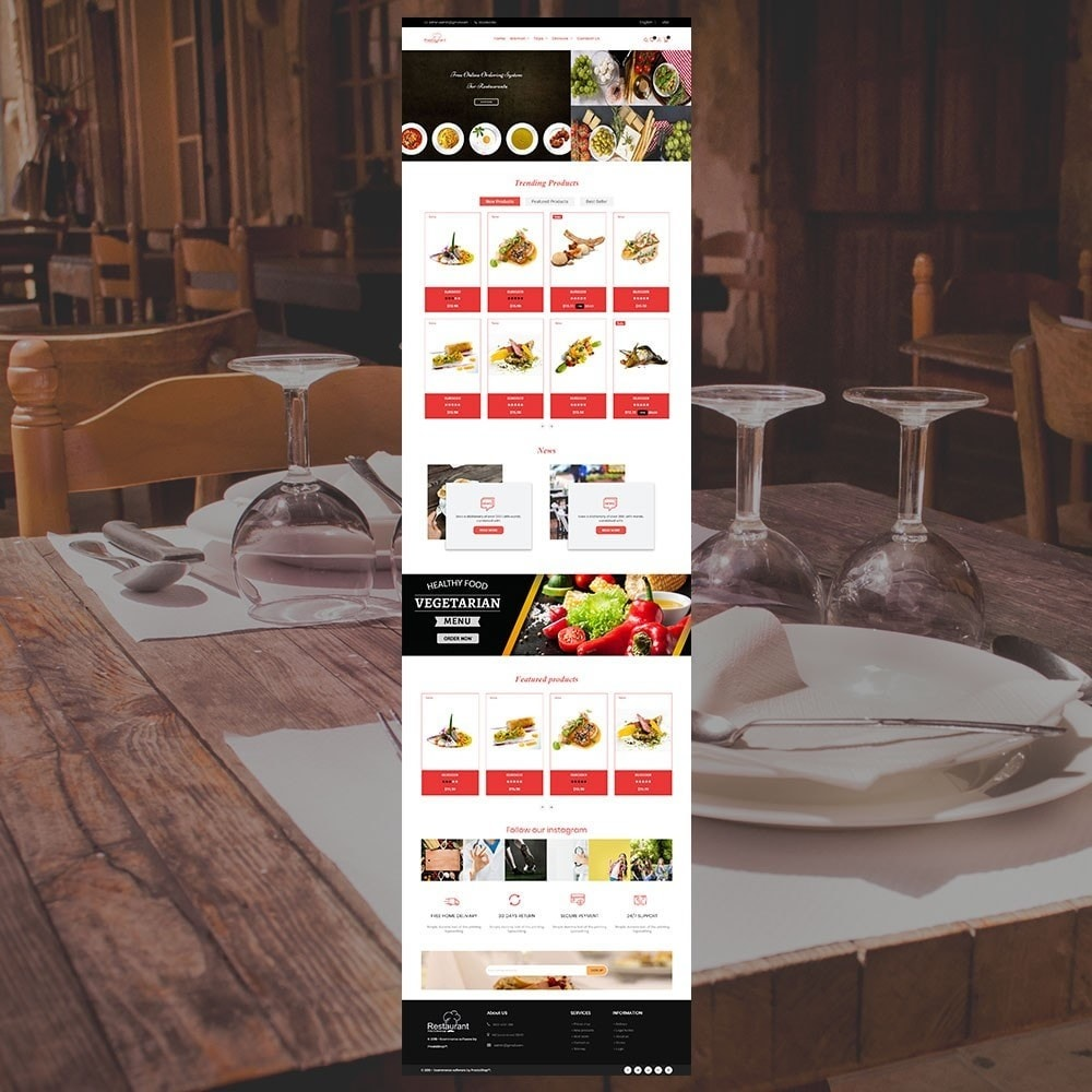 theme - Food & Restaurant - Restaurant Store - 2