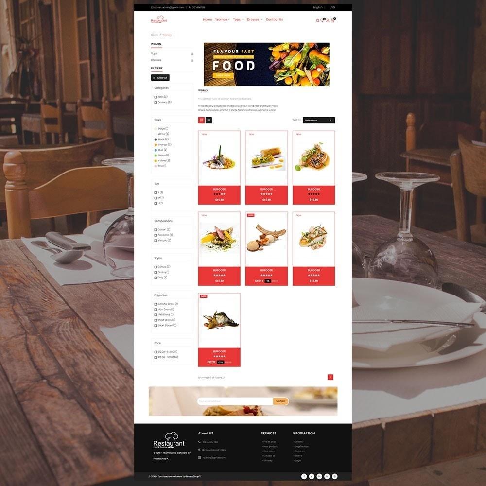 theme - Alimentation & Restauration - Magasin de restaurant - 4