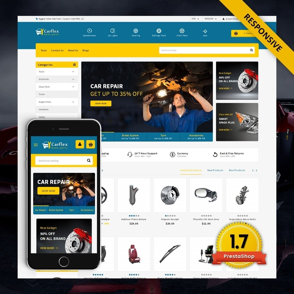 theme - Auto & Moto - CarFlex - The AutoParts Store - 2