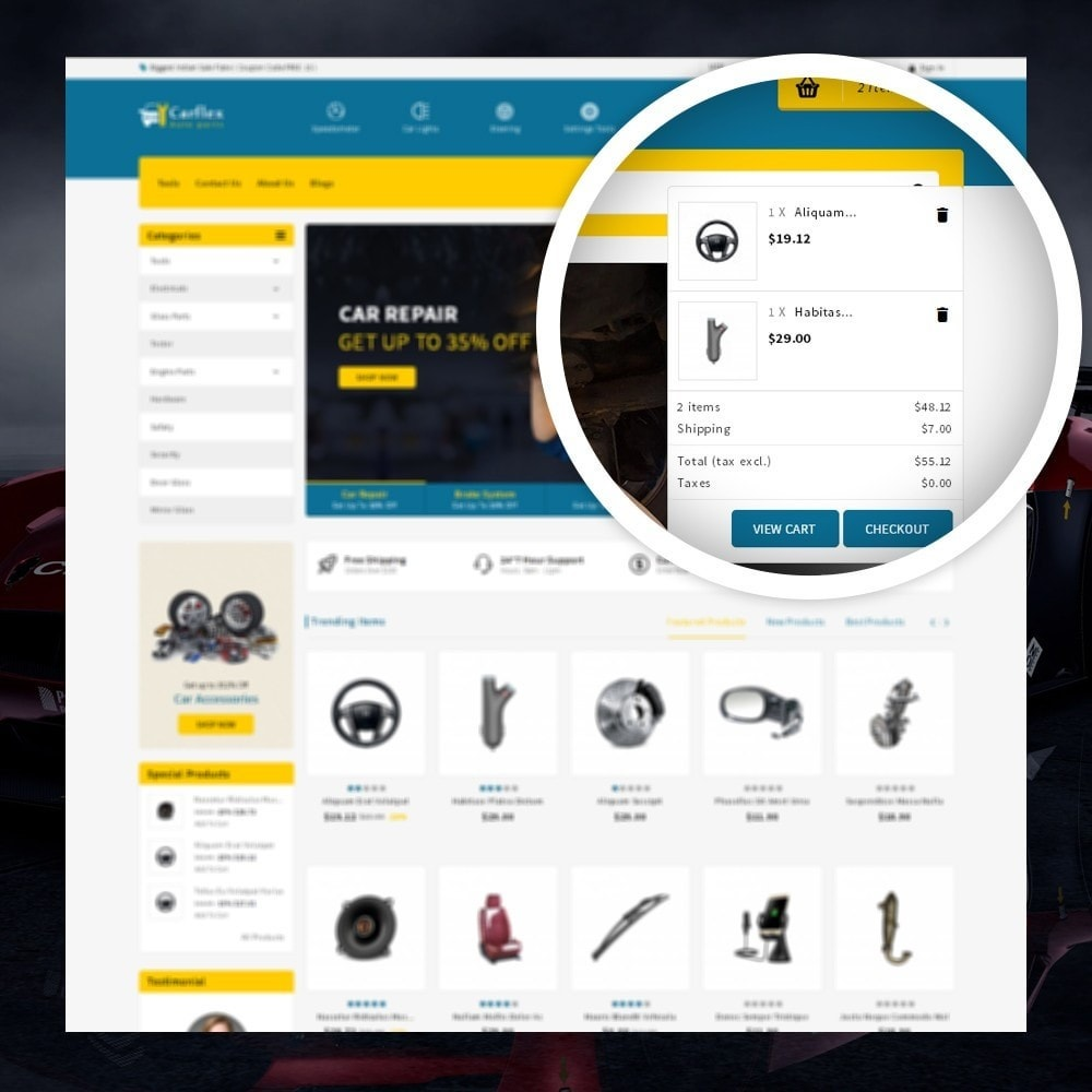 theme - Auto & Moto - CarFlex - The AutoParts Store - 5