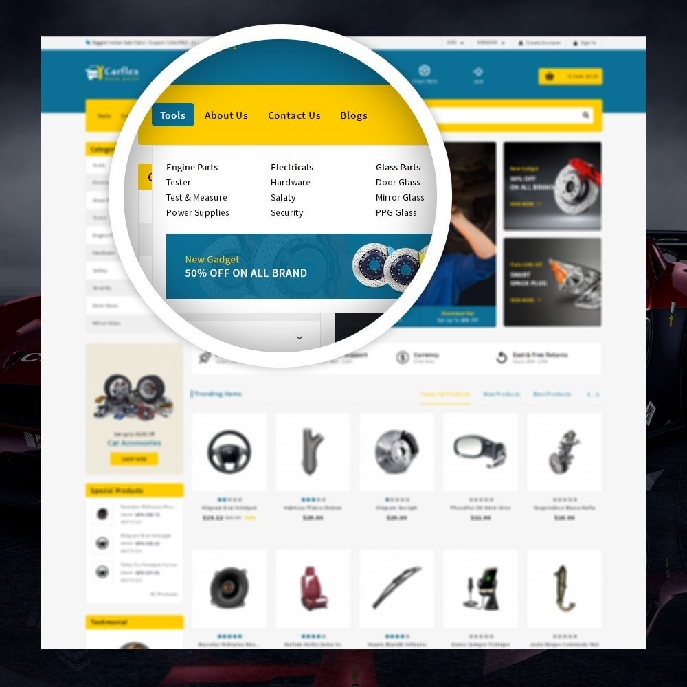 theme - Авто и Мото - CarFlex - The AutoParts Store - 7