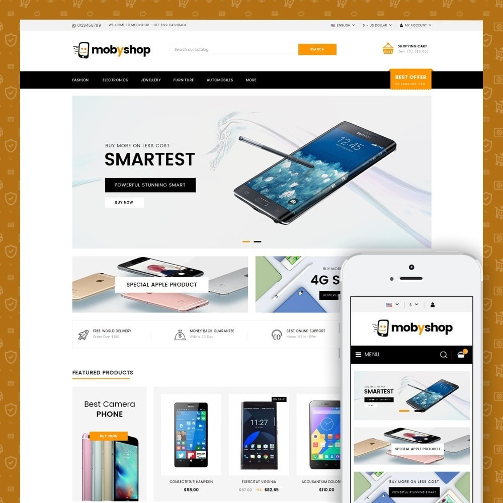 theme - Electronics & Computers - Mobyshop - Online Mobile Store - 1