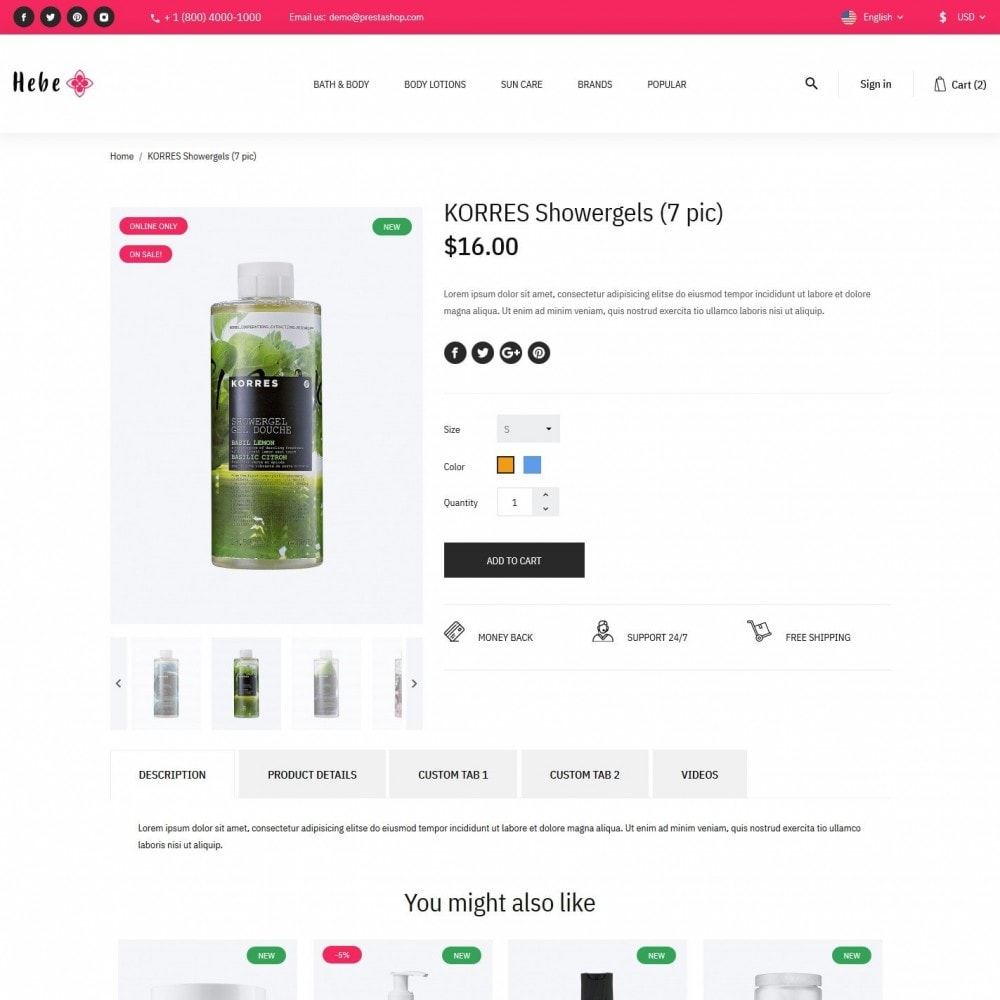 theme - Health & Beauty - Hebe Cosmetics - 6