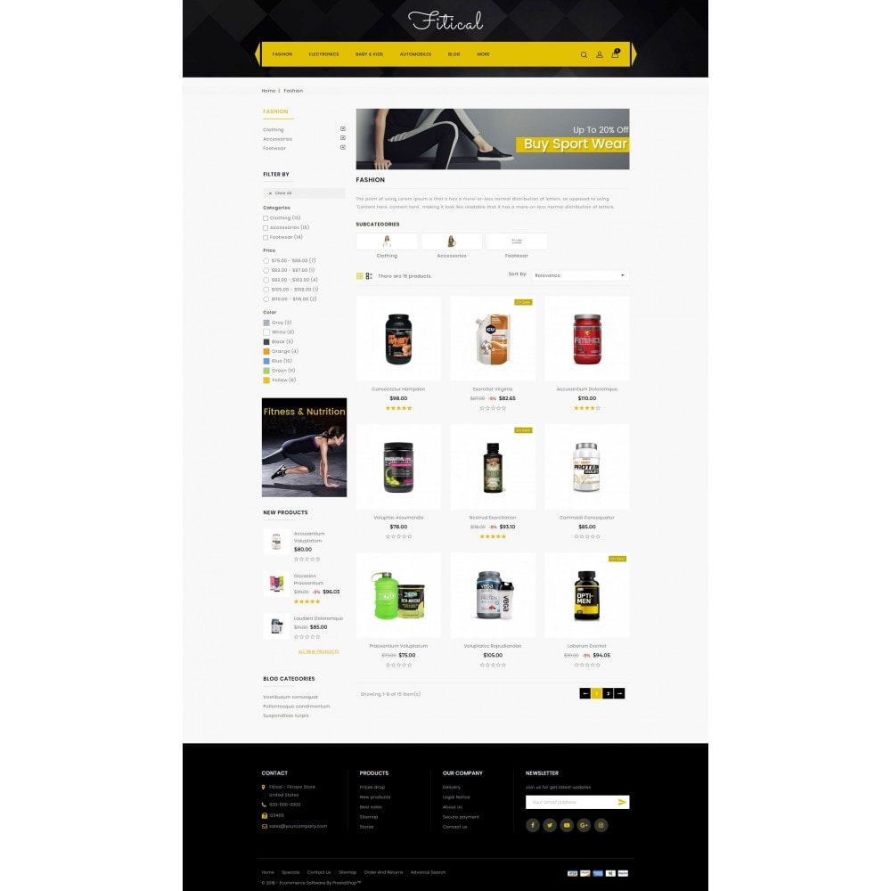 theme - Health & Beauty - Fitical - Fitness Store - 3