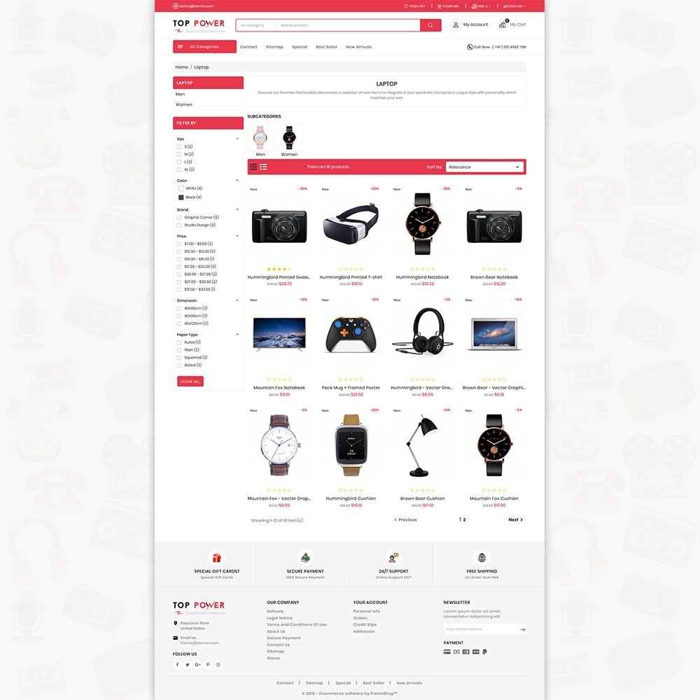 theme - Electronics & Computers - Top Tower - The Mega Ecommerce Store - 4