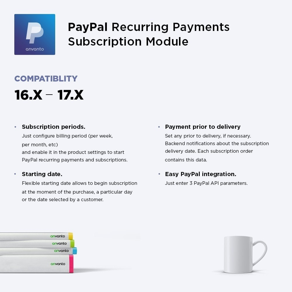module - Pagamento recorrente (assinatura) - PayPal Recurring Payments / Subscription - 1