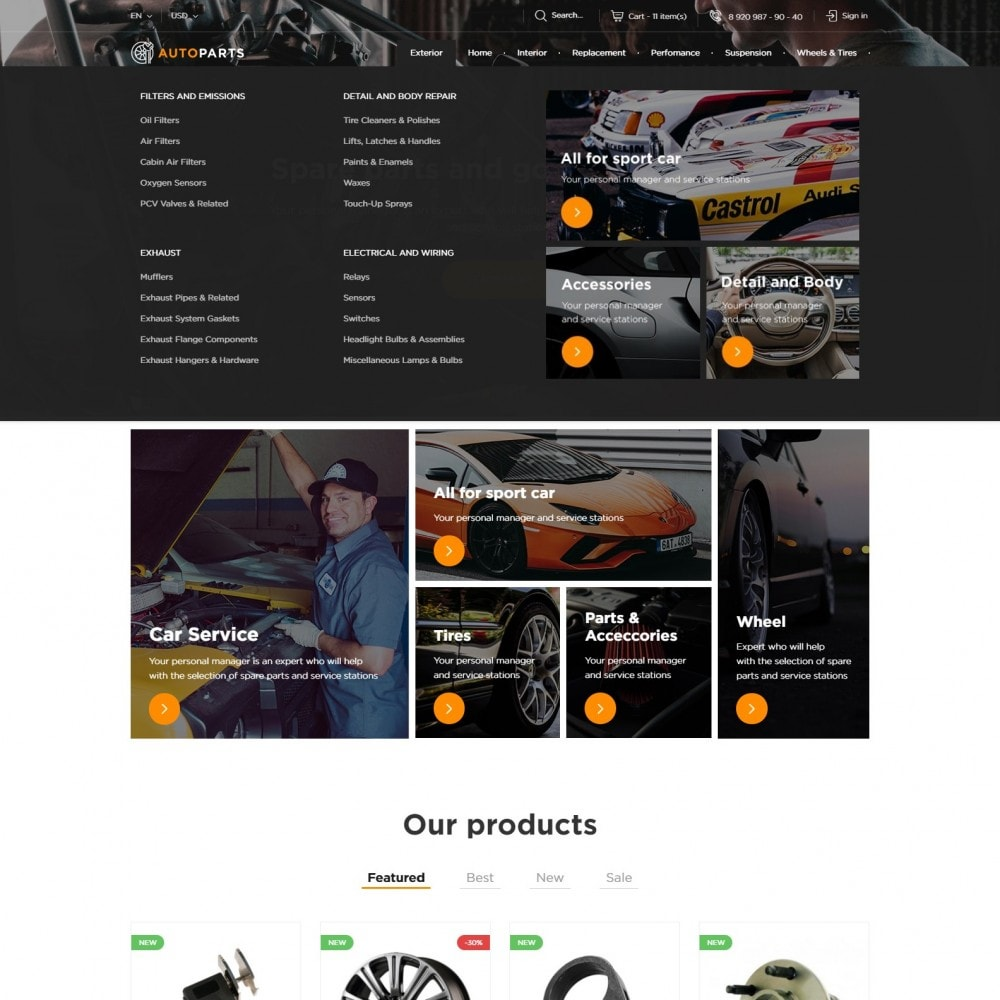 theme - Automotive & Cars - Auto Parts Store - 4