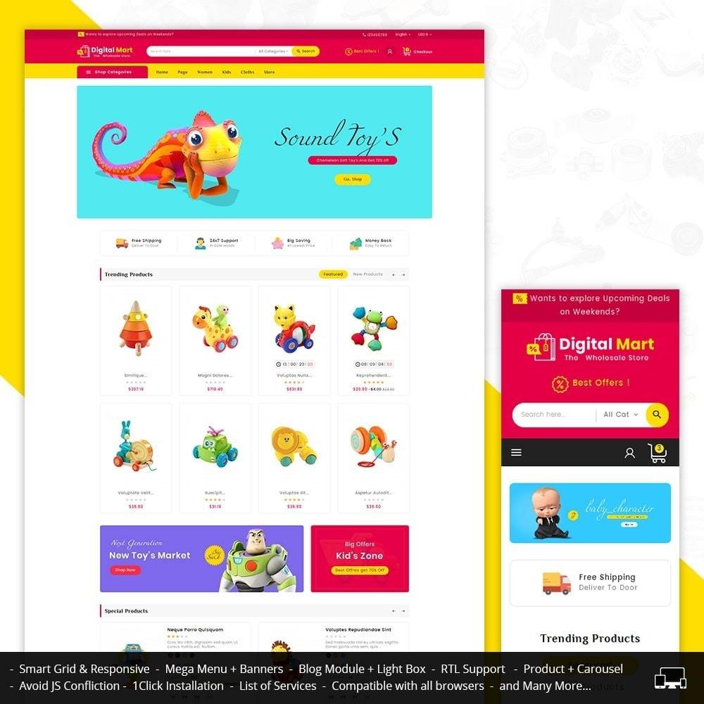theme - Kinder & Spielzeug - Digital Mart Kids Toys - 1