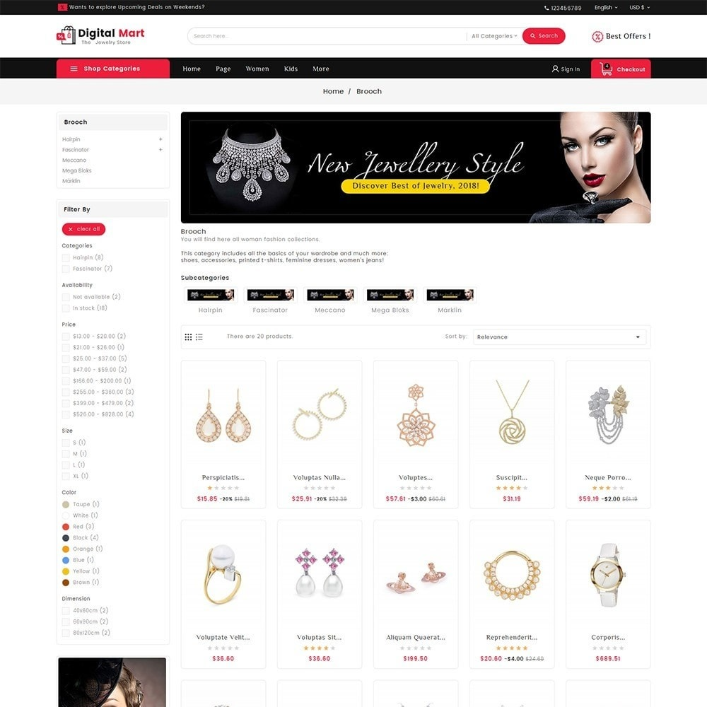 theme - Joyas y Accesorios - Digital Mart Jewelry Imitation - 3