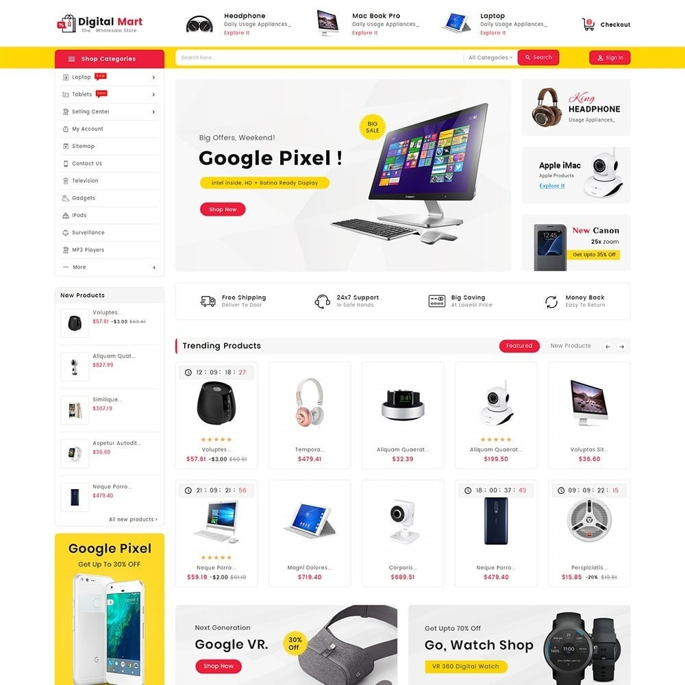 theme - Electronics & Computers - Digital Electronics Mart - 2