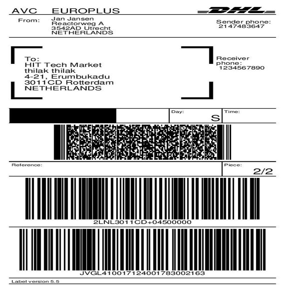 module - Preparation & Shipping - DHL Parcel Shipping with Print Label. - 1