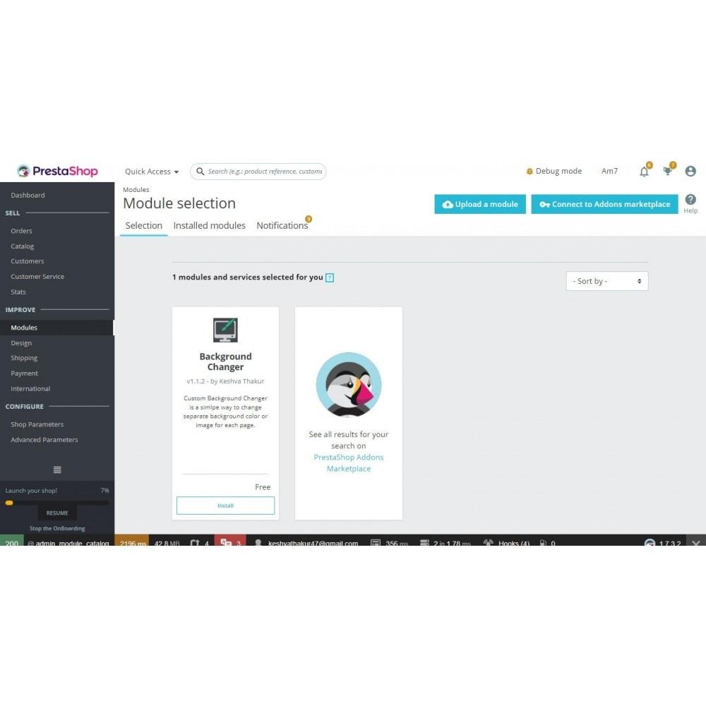 module - Page Customization - Background Changer - 2